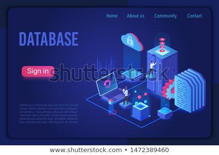Base de données stockage informations travailleur homme Photo stock © robuart