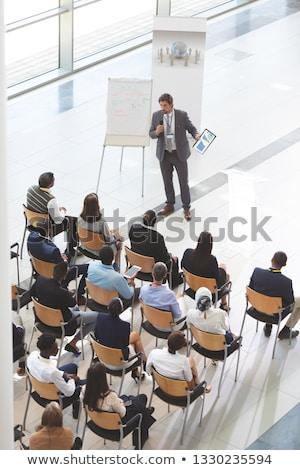 Vue affaires parler Photo stock © wavebreak_media