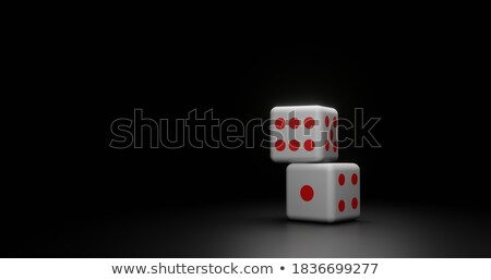 No Text Dice Spotlighted on Black Background Stock photo © make
