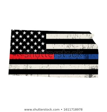Kansas policji wsparcia banderą ilustracja Zdjęcia stock © enterlinedesign