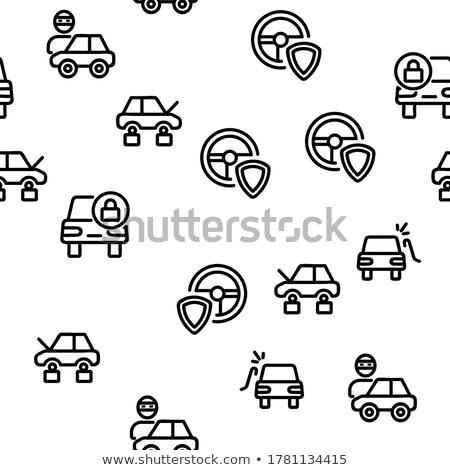 車 盗難 ベクトル 薄い 行 ストックフォト © pikepicture