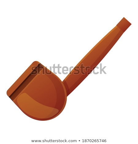 Tobacco Pipe Ancient Wooden Smoke Equipment Vector Stock photo © pikepicture