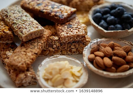 Close up. Mixed composition of various energy nutrition bars Stock photo © dash