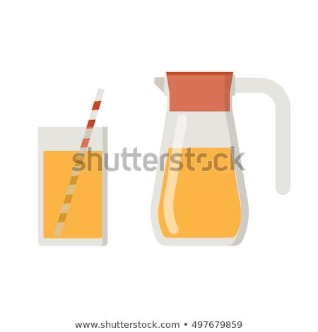 Cold fresh orange juice filled in glassware, full of vitamins, isolated over white background. Refre Stock photo © vkstudio