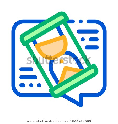 Lengthy Negotiations Icon Vector Outline Illustration Stock photo © pikepicture