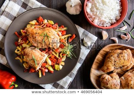 курица-гриль сельдерей куриные группа обеда мяса Сток-фото © Alex9500