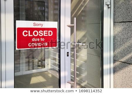 Economie coronavirus commerciële haven zee teken Stockfoto © neirfy