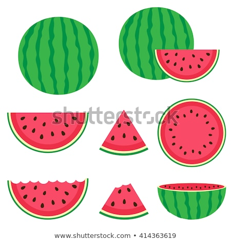 Watermelon Slice, Fruit with Seeds, Summer Berry Stock photo © robuart