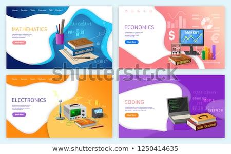 Codificación matemáticas escuela vector útiles escolares ordenador Foto stock © robuart
