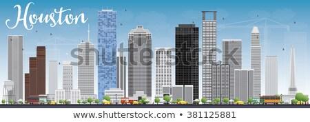 Houston ufuk çizgisi gri binalar mavi gökyüzü Stok fotoğraf © ShustrikS