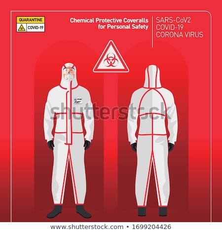 Stock photo: Doctors in protective coverall stop coronavirus