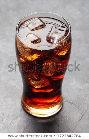 Klasy cola z dala żywności Zdjęcia stock © karandaev