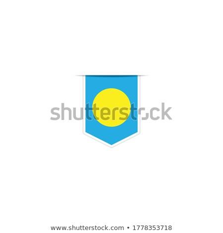 Palau bandeira mão branco coração liberdade Foto stock © butenkow