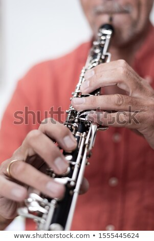 Close up on the hand of a female musician Stock photo © Giulio_Fornasar