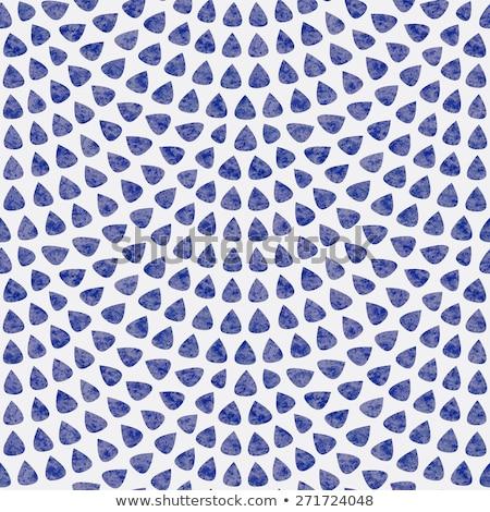 Pauw fan naadloos Blauw vector patroon Stockfoto © yopixart