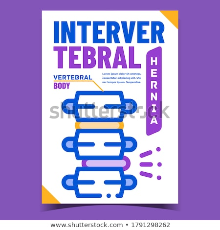 Intervertebral Hernia Advertising Poster Vector Stock photo © pikepicture