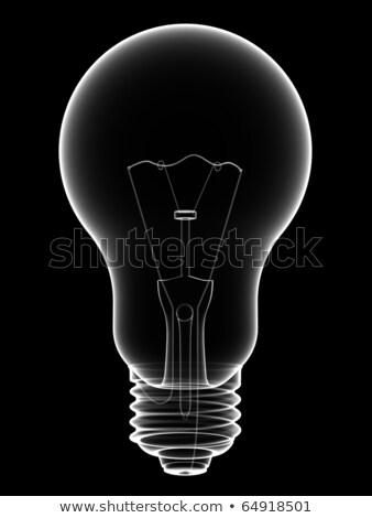 X Ray Lightbulb Isolated On Black Photo stock © oneo