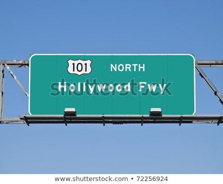 Hollywood otoyol işareti yüksek karar grafik bulut Stok fotoğraf © kbuntu