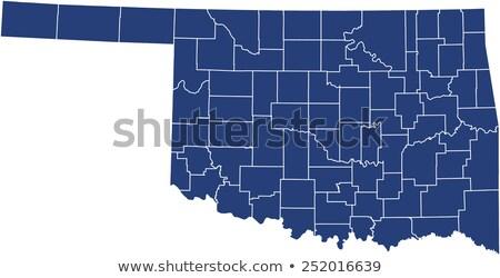 Kék Oklahoma térkép absztrakt Stock fotó © lirch