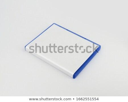 disco · compacto · ícone · azul · isolado · branco · tecnologia - foto stock © peterp