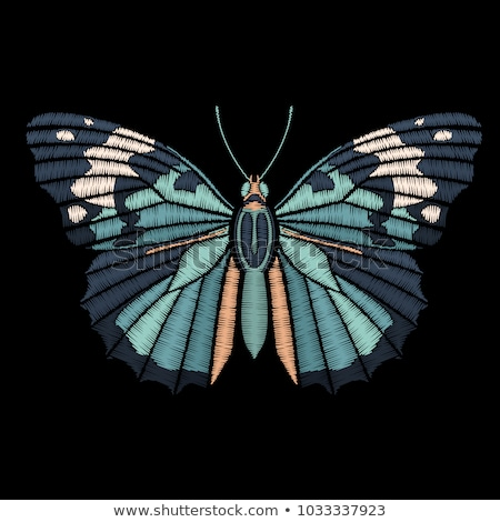 Vlinder steken naadloos patroon grasachtig baby Stockfoto © sahua