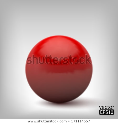 red 3d sphere abstraction stock photo © FransysMaslo