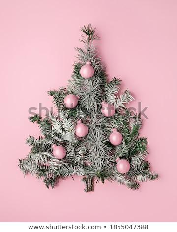 Zöld karácsony dísz izolált fehér Stock fotó © CrackerClips