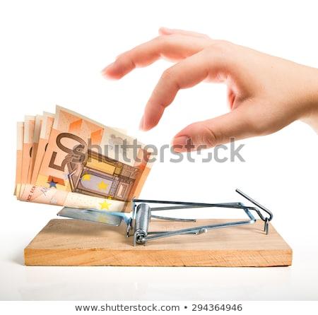 Trappola gioco d'azzardo legno carta bianco carte da gioco Foto d'archivio © pterwort