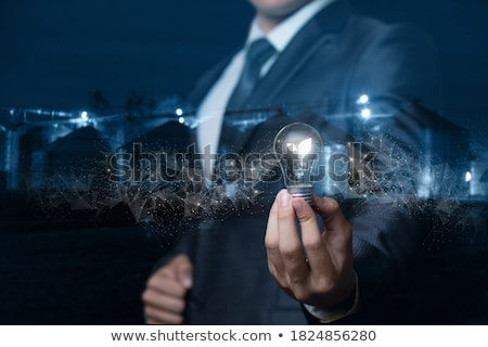 Light Bulb with sprout inside  stock photo © Sarunyu_foto