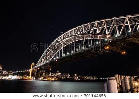 sydney opera house and circular keys at night stock photo © epstock