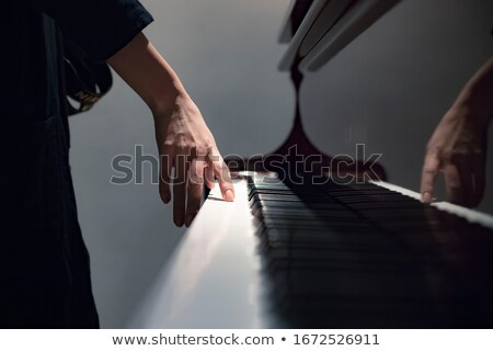 Antik zongora közelkép zene fa háttér Stock fotó © CrackerClips