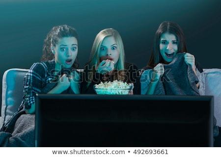 три · удаленных · телевидение · связи · цифровой · кнопки - Сток-фото © photography33