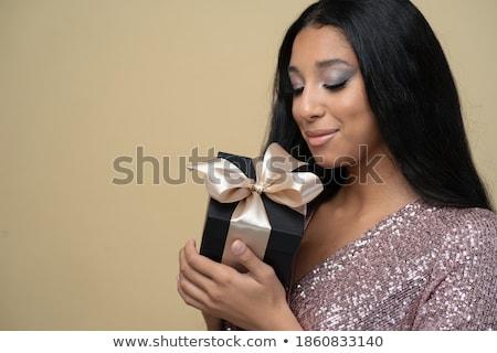Ciglia cartone ciglia finte bianco donna faccia Foto d'archivio © posterize