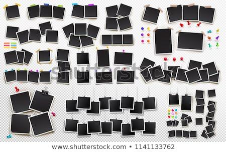 インスタント 写真 黒 ルーム 壁 映画 ストックフォト © designsstock