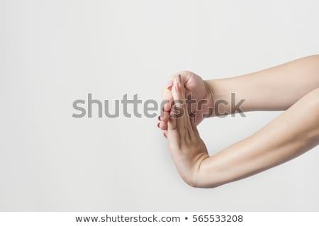 Female hand stretched horizontally Stock photo © pzaxe