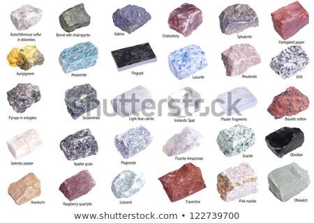 metal · mineral · colección · aislado · blanco · verde - foto stock © grafvision