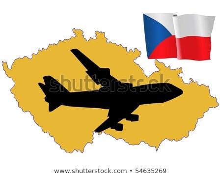 商业照片: 飞·我· 捷克共和国 · 地图 · 飞机 · 国家