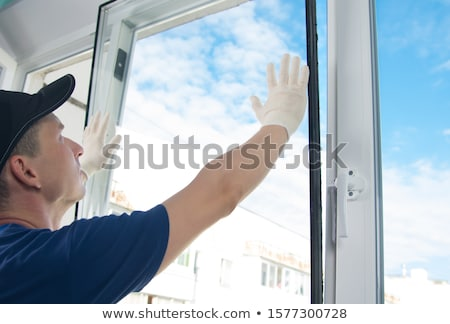 builder installing double glazing stock photo © photography33