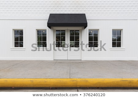 Amarelo porta fundo janela quadro restaurante Foto stock © experimental