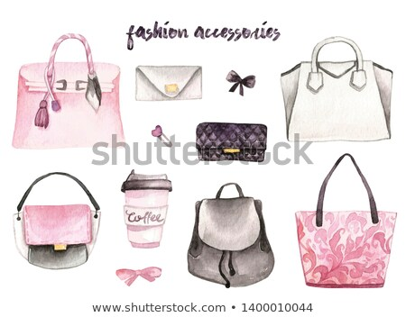 Girl with pink shopping bags Stock photo © Anna_Om