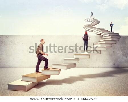 élèves enseignants escaliers homme éducation filles Photo stock © photography33