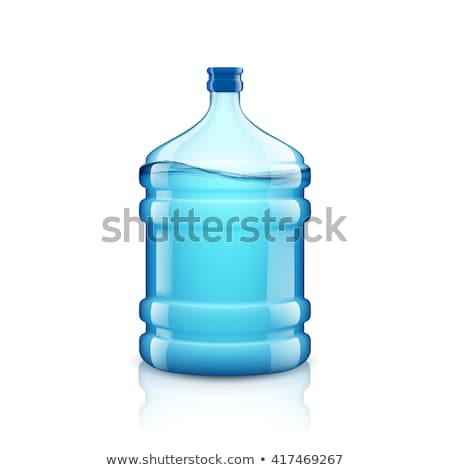 White cooler with water bottle on a white background. Stock photo © shutswis