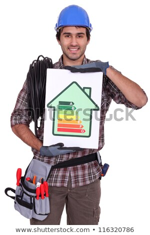 Electrician with an energy rating card Stock photo © photography33