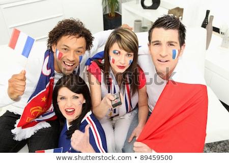 Francia futball ventillátor távirányító arc futball Stock fotó © photography33