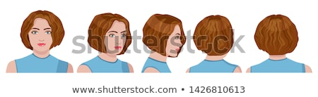 hair style and cute lady, turned of three quarters Stock photo © carlodapino