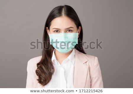 fiatal · gyönyörű · üzletasszony · ül · asztal · nő - stock fotó © acidgrey