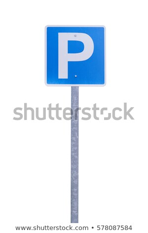 Isolado estacionamento assinar azul Foto stock © nikdoorg