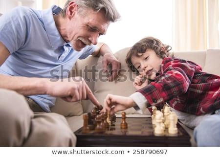 jóvenes · familia · jugando · ajedrez · año · edad - foto stock © wavebreak_media