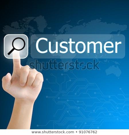 marketing · internetowy · cyfrowe · ekran · dotykowy · interfejs · działalności · kobieta - zdjęcia stock © fotoscool