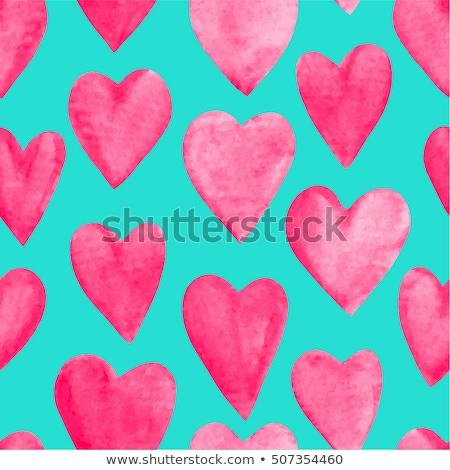 Sanat Retro kumaş kalpler dizayn tebrik kartı Stok fotoğraf © fotoaloja
